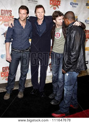 Bradley Cooper, Liam Neeson, Sharlton Copley and Quinton Jackson at the 2010 Guys Choice Awards held at the Sony Pictures Studios in Culver City, California, United States on June 5, 2010.