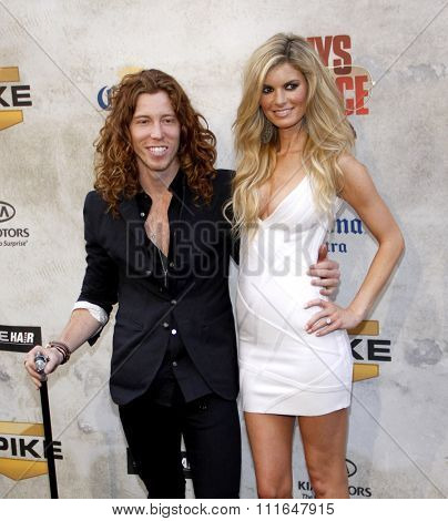 Shaun White and Marisa Miller at the 2010 Guys Choice Awards held at the Sony Pictures Studios in Culver City, California, United States on June 5, 2010.