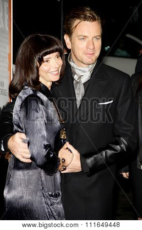 Ewan McGregor and Eve Mavrakis at the Los Angeles Premiere of
