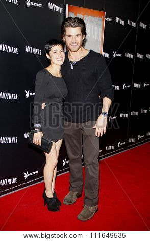 Sylvia Brindis and Johnny Wentworth at the Los Angeles Premiere of