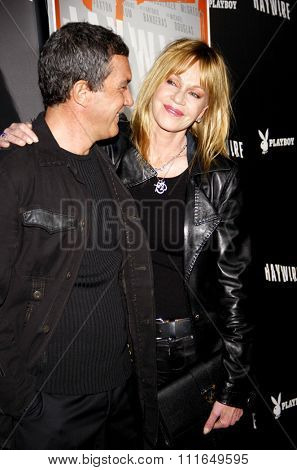 Antonio Banderas and Melanie Griffith at the Los Angeles Premiere of