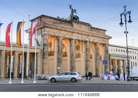 Brandenburg Gate and Twilight