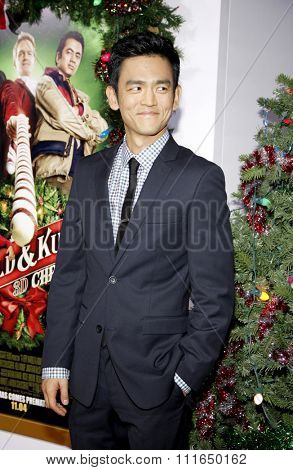 HOLLYWOOD, CALIFORNIA - November 2, 2011. John Cho at the Los Angeles premiere of