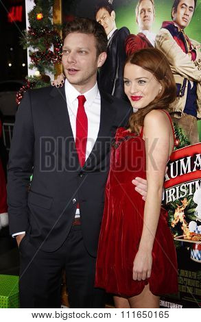 HOLLYWOOD, CALIFORNIA - November 2, 2011. Jordan Hinson and Todd Strauss-Schulson at the Los Angeles premiere of