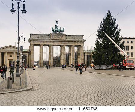 Christmas Tree and Brandenburg Gate