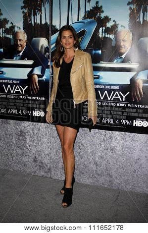 HOLLYWOOD, CALIFORNIA - March 22, 2011. Cindy Crawford at the Los Angeles premiere of