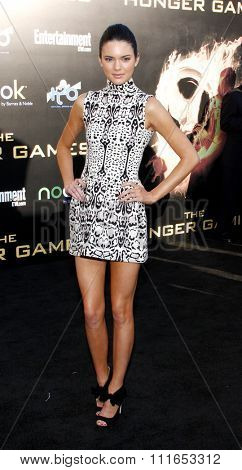 LOS ANGELES, CALIFORNIA - March 12, 2012. Kendall Jenner at the Los Angeles premiere of