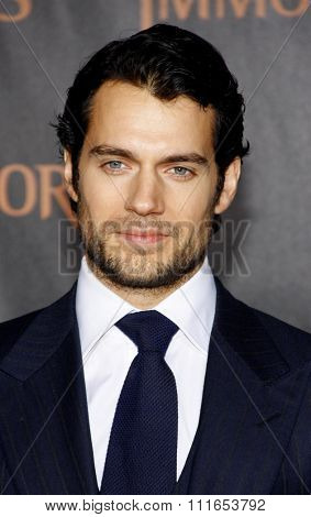 LOS ANGELES, CALIFORNIA - November 7, 2011. Henry Cavill at the World premiere of