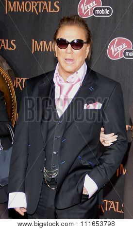 LOS ANGELES, CALIFORNIA - November 7, 2011. Mickey Rourke at the World premiere of
