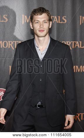 LOS ANGELES, CALIFORNIA - November 7, 2011. Joseph Morgan at the World premiere of