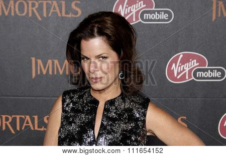 LOS ANGELES, CALIFORNIA - November 7, 2011. Marcia Gay Harden at the World premiere of