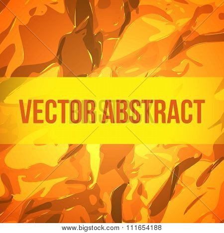 Orange Paper Texture Background. Vector.