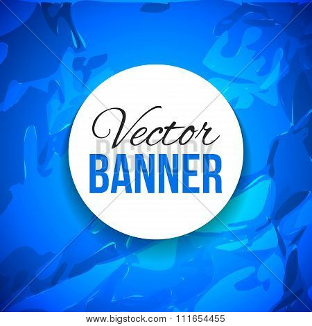 Blue Paper Texture Background. Vector.