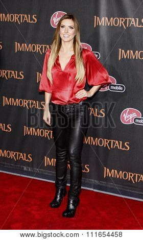 LOS ANGELES, CALIFORNIA - November 7, 2011. Audrina Patridge at the World premiere of
