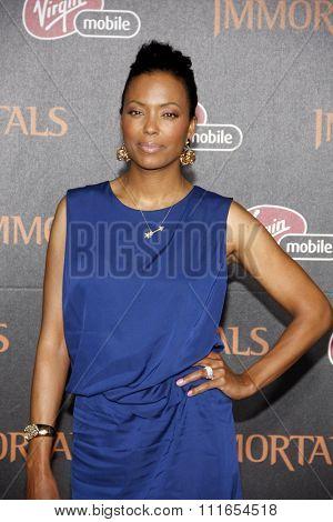 LOS ANGELES, CALIFORNIA - November 7, 2011. Aisha Tyler at the World premiere of