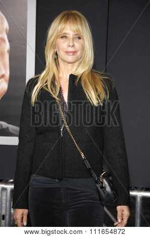 Rosanna Arquette at the Los Angeles premiere of 'Creed' held at the Regency Village Theatre in Westwood, USA on November 19, 2015.