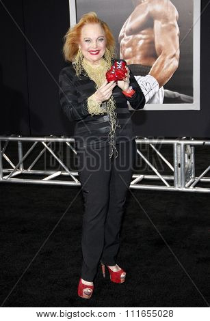 Carol Connors at the Los Angeles premiere of 'Creed' held at the Regency Village Theatre in Westwood, USA on November 19, 2015.
