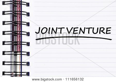 Joint Venture Words On Spring Note Book