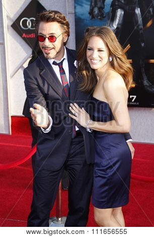Robert Downey Jr. and Susan Downey at the World Premiere of