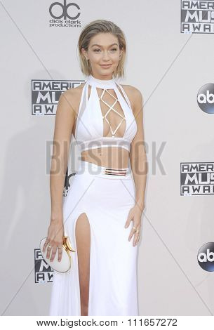Gigi Hadid at the 2015 American Music Awards held at the Microsoft Theater in Los Angeles, USA on November 22, 2015.