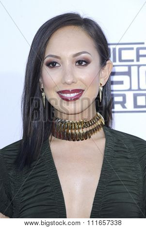 Cheryl Burke at the 2015 American Music Awards held at the Microsoft Theater in Los Angeles, USA on November 22, 2015.