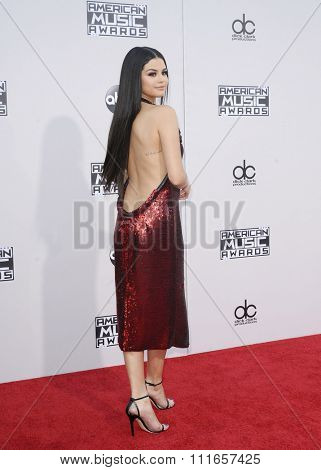 Selena Gomez at the 2015 American Music Awards held at the Microsoft Theater in Los Angeles, USA on November 22, 2015.