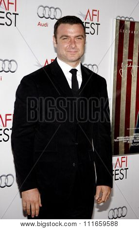 HOLLYWOOD, CALIFORNIA - November 3, 2011. Liev Schreiber at the AFI Fest 2011 Opening Night Gala World Premiere Of