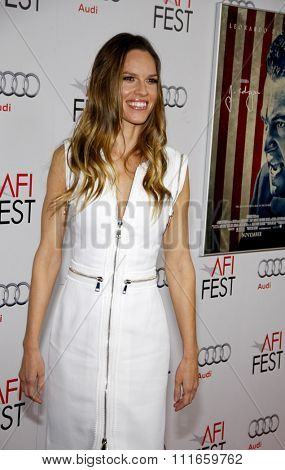 Hilary Swank at the AFI Fest 2011 Opening Night Gala World Premiere Of