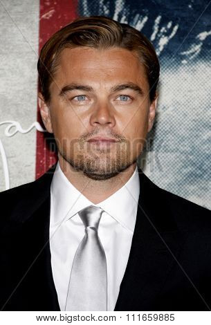 HOLLYWOOD, CALIFORNIA - November 3, 2011. Leonardo DiCaprio at the AFI Fest 2011 Opening Night Gala World Premiere Of