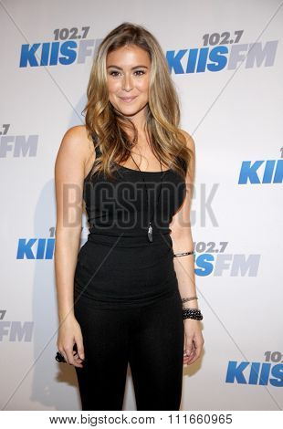 Alexa Vega at the KIIS FM's 2012 Jingle Ball held at the Nokia Theatre L.A. Live in Los Angeles, USA on December 3, 2012.