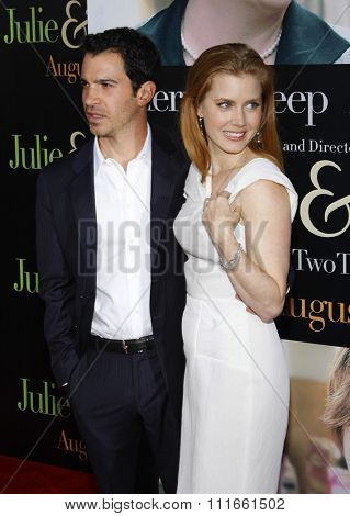 Chris Messina and Amy Adams at the Los Angeles screening of