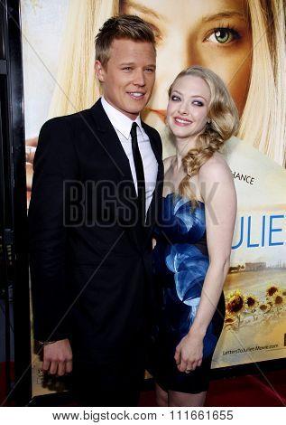 HOLLYWOOD, CALIFORNIA - May 11, 2010. Chris Egan and Amanda Seyfried at the Los Angeles premiere of