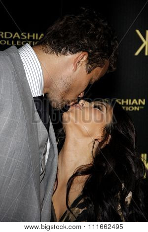 HOLLYWOOD, CALIFORNIA - August 17, 2011. Kris Humphries and Kim Kardashian at the Kardashian Kollection Launch Party held at the Colony, Los Angeles.