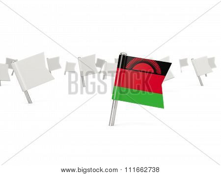 Square Pin With Flag Of Malawi