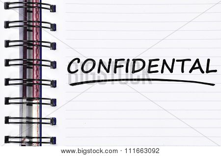Confidental Words On Spring White Note Book