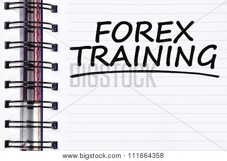 Forex Training Words On Spring Note Book