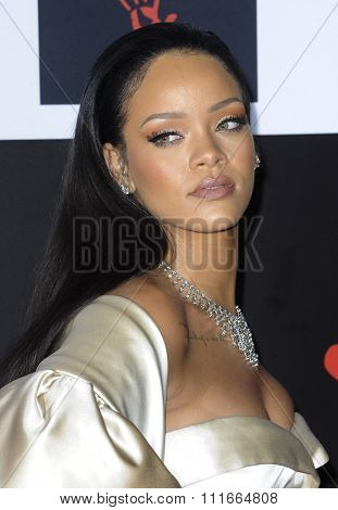 Rihanna at the 2nd Annual Diamond Ball held at the Barker Hanger in Santa Monica, USA on December 10, 2015.