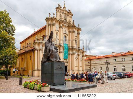 Warsaw. Monument to Cardinal Stefan Wyszynski.