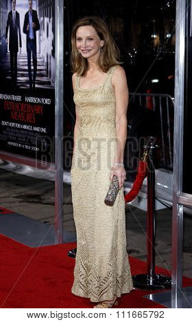 Calista Flockhart at the Los Angeles Premiere of