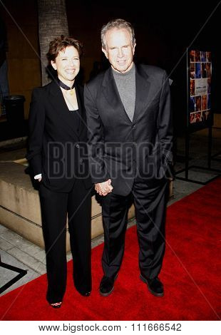 HOLLYWOOD, CALIFORNIA - April 19, 2010. Annette Bening and Warren Beatty at the Los Angeles premiere of