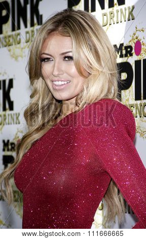 Paulina Gretzky at the Mr. Pink Ginseng Drink Launch Party held at the Regent Beverly Wilshire Hotel, Los Angeles, USA on October 11, 2012.
