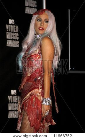 Lady Gaga at the 2010 MTV Video Music Awards held at the Nokia Theatre L.A. Live in Los Angeles, USA on September 12, 2010.