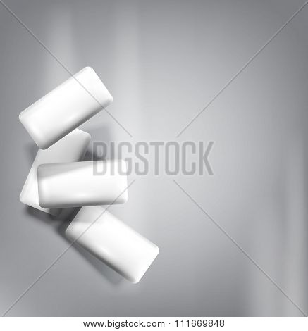 chewing gum isolated on a gray background (imitation 3d)