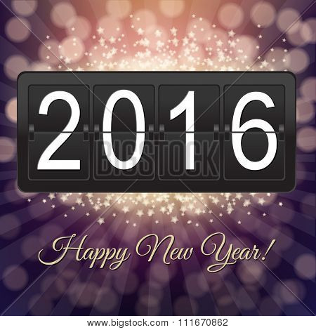 New Years Black Counter With Gradient Mesh, Vector illustration