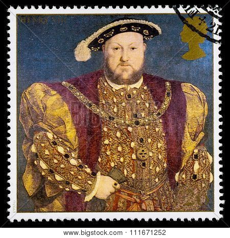 Britain Henry 8th Postage Stamp
