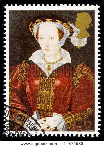 Britain Catherine Parr Postage Stamp