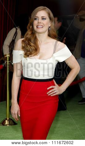 HOLLYWOOD, CALIFORNIA - November 12, 2011. Amy Adams at the World premiere of