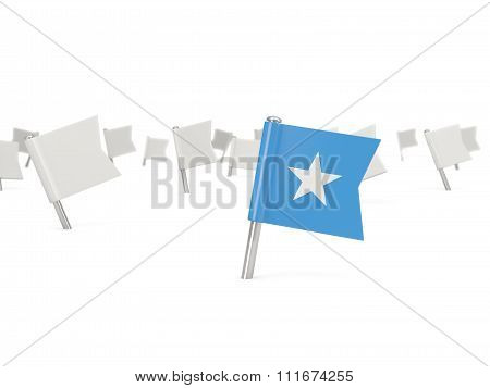Square Pin With Flag Of Somalia