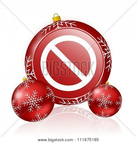 access denied christmas icon