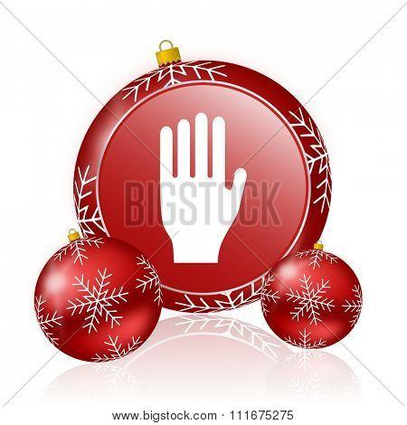 stop christmas icon